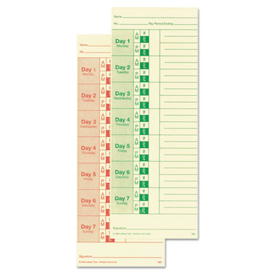 Lathem Time M2100 Time Cards