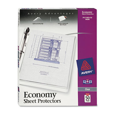 Avery 74090 Standard and Economy Weight Clear and Semi-Clear Sheet Protector