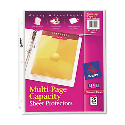 Avery 74171 Multi-Page Capacity Heavyweight Diamond Clear Sheet Protector