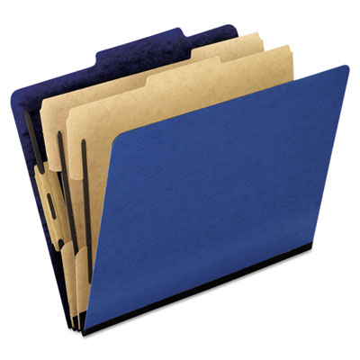 Pendaflex 1257BL Six-Section PressGuard Colored Classification Folders