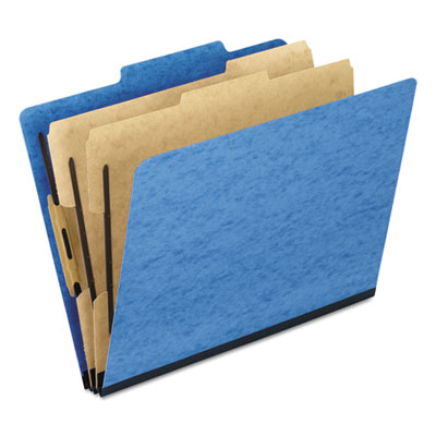 Pendaflex 1257LB Six-Section PressGuard Colored Classification Folders