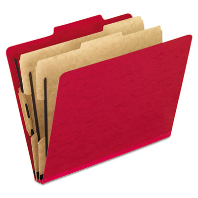 Pendaflex 1257SC Six-Section PressGuard Colored Classification Folders