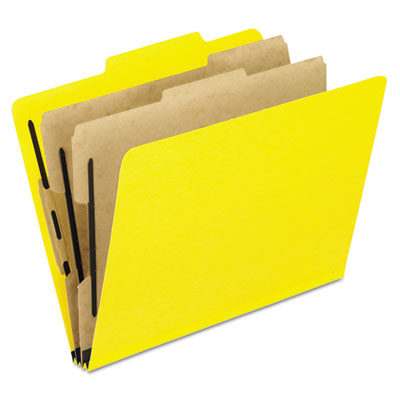 Pendaflex 1257Y Six-Section PressGuard Colored Classification Folders
