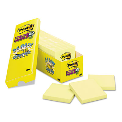 Post-it 65424SSCP Notes Super Sticky Pads in Canary Yellow