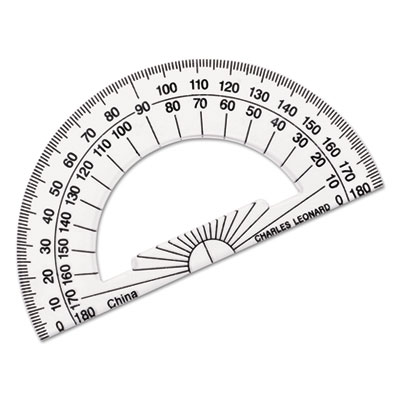 Charles Leonard 77104 Open Center Protractor