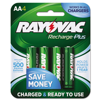 Ray-O-Vac PL7154B Rayovac Recharge Plus NiMH Batteries