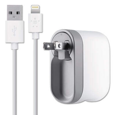 Belkin F8J032TT04 2.1 Amp Swivel Charger with Lightning Cable