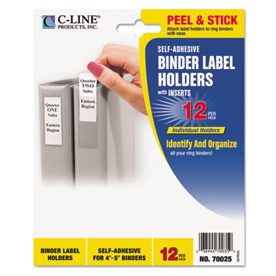 C-Line 70025 Self-Adhesive Binder Label Holders