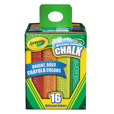 Binney &  Smith 512016 Crayola Washable Sidewalk Chalk