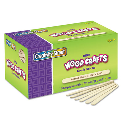 Xstamper 377501 Chenille Kraft Natural Wood Craft Sticks