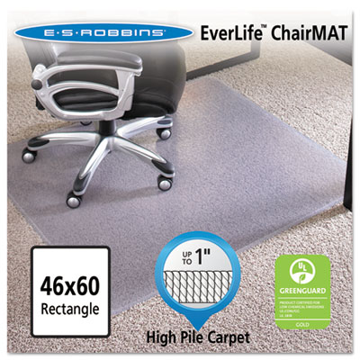 ES Robbins 124377 EverLife Intensive Use Chair Mat For High To Extra High  Pile Carpet