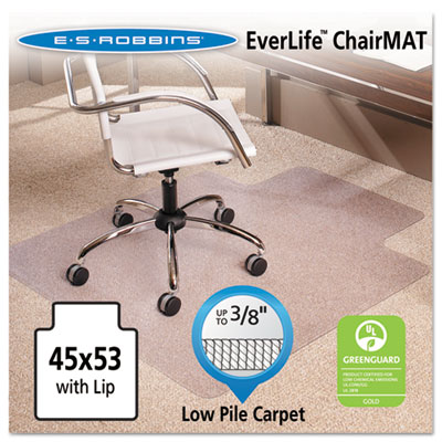 ES Robbins 128173 EverLife Chair Mats for Low Pile Carpet