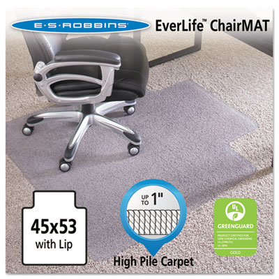 ES Robbins 124154 EverLife Chair Mats for High to Extra-High Pile Carpet