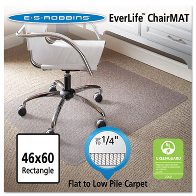 ES Robbins 120321 EverLife Chair Mats for Flat to Low Pile Carpet