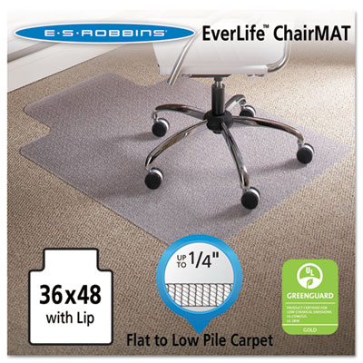 ES Robbins 120023 EverLife Chair Mats for Flat to Low Pile Carpet