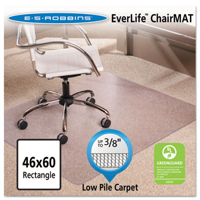 ES Robbins 128371 EverLife Chair Mats for Low Pile Carpet