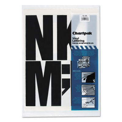 Chartpak 01184 Press-On Vinyl Letters &  Numbers