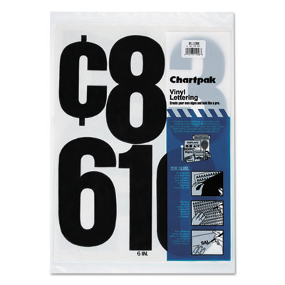 Chartpak 01198 Press-On Vinyl Letters &  Numbers