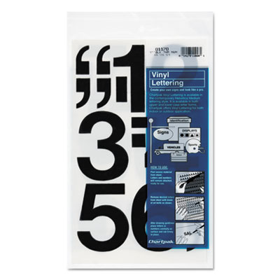Chartpak 01170 Press-On Vinyl Letters &  Numbers