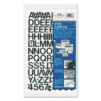 Chartpak 01020 Press-On Vinyl Letters &  Numbers