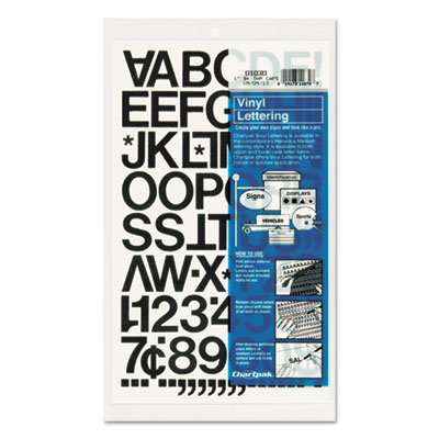 Chartpak 01030 Press-On Vinyl Letters &  Numbers