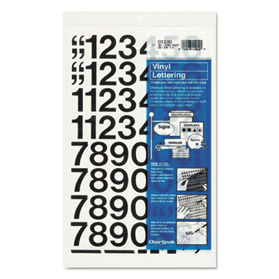 Chartpak 01130 Press-On Vinyl Letters &  Numbers