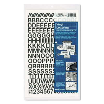 Chartpak 01010 Press-On Vinyl Letters &  Numbers