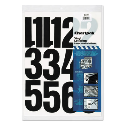 Chartpak 01193 Press-On Vinyl Letters &  Numbers