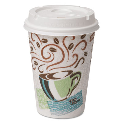 Dixie 5342COMBO600 PerfecTouch Paper Hot Cups & Lids Combo
