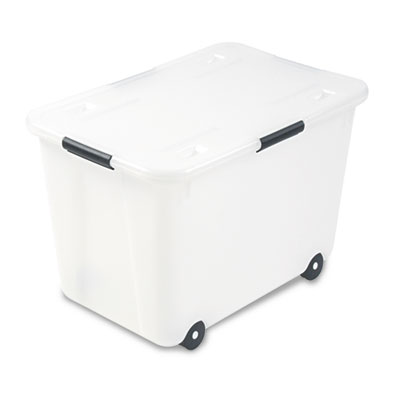 Advantus 34009 Rolling 15-Gal. Storage Box