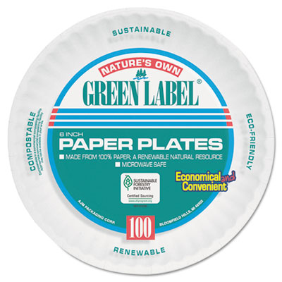 AJM PP6AJKWH Packaging Corporation Paper Plates