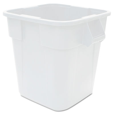 Rubbermaid 3536WHI Commercial Square Brute Container
