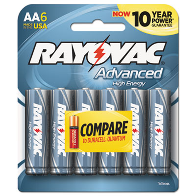 Ray-O-Vac 8156HEF Rayovac Advanced High Energy Alkaline Batteries