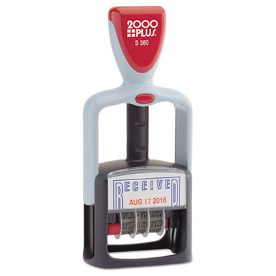 Cosco 011034 2000 PLUS Self-Inking Two-Color Word Dater