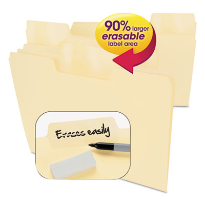 Smead Manufacturing 10380 Smead Erasable SuperTab File Folders