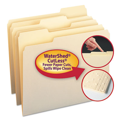 Smead Manufacturing 10343 Smead WaterShed/CutLess File Folders