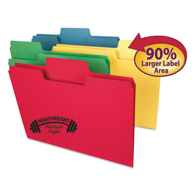 Smead Manufacturing 10410 Smead SuperTab Colored File Folders