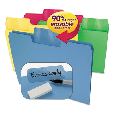 Smead Manufacturing 10480 Smead Erasable SuperTab File Folders