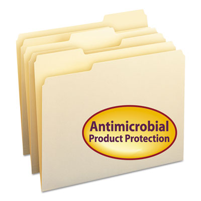 Smead Manufacturing 10338 Smead Top Tab File Folders with Antimicrobial Product Protection