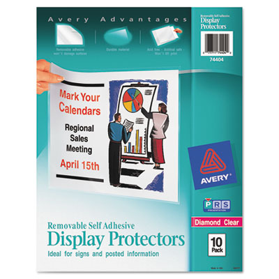 Avery 74404 Removable Self-Adhesive Clear Display Protector