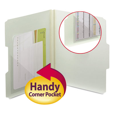 Smead 68140 Self-Adhesive Poly Corner Pockets