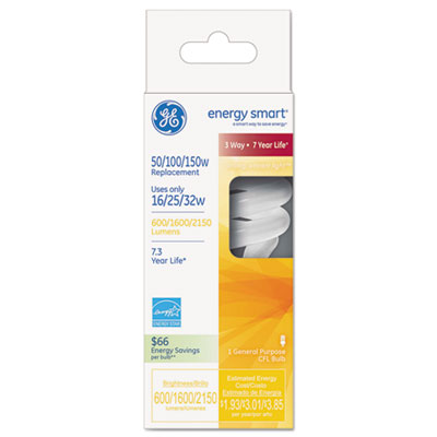 GE 78952 Energy Smart Compact Fluorescent Spiral Light Bulb