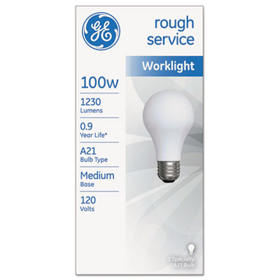 GE 18275 Rough Service Incandescent Worklight Bulb