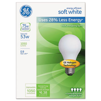 GE 66248 Energy-Efficient Halogen Bulb