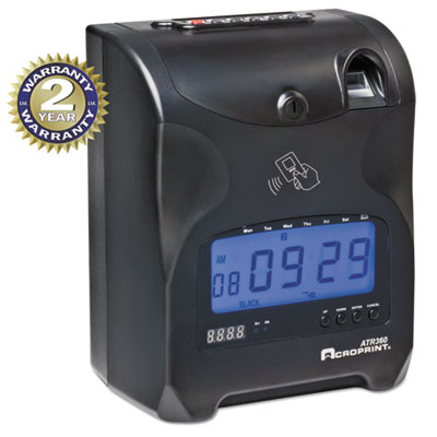 Acroprint 010270000 ATR360 Fingerprint Time Clock
