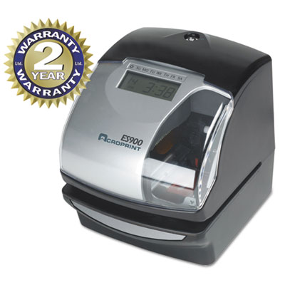 Acroprint 010209000 ES900 Atomic Electronic Payroll Recorder Time Stamp and Numbering Machine