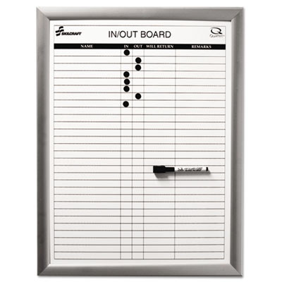 AbilityOne 5680403 SKILCRAFT Quartet Magnetic In Out Board