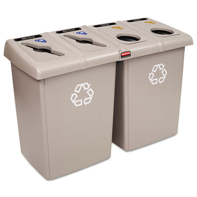 Rubbermaid 1792374 Commercial Glutton Recycling Station