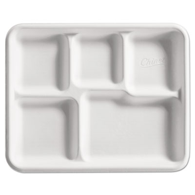 Chinet 22025 Molded Fiber Cafeteria Trays