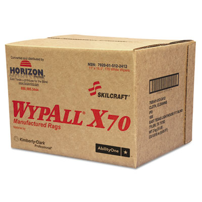 AbilityOne 5122412 SKILCRAFT WYPALL X70 Rags